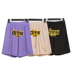 短裤, 印花, 笑脸, 字母