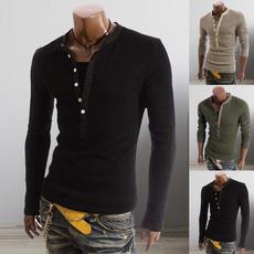 Fashion, long sleeve t shirt, Sleeve, singlebreastedshirt