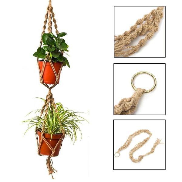 Rope, Decor, Flowers, Home Decor