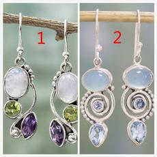 Sterling, rainbow, Dangle Earring, Silver Earrings