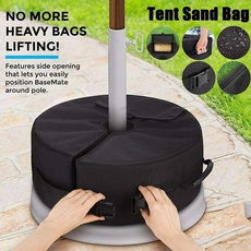 parasolbase, sandbag, camping, tentstandfixed
