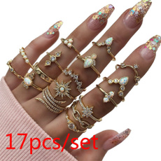 Couple Rings, Vintage, crystal ring, Women Ring