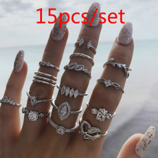 Couple Rings, Women, crystal ring, Jewelry