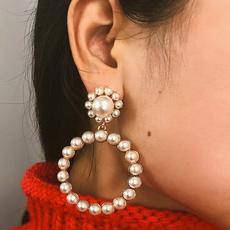 Fashion, Pearl Earrings, Elegant, Women's Fashion