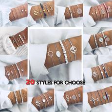 Heart, Turquoise, Infinity, women bracelets