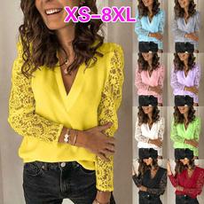 blouse, Plus Size, Lace, chiffon