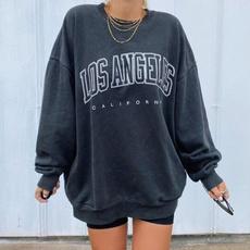 Plus Size, Necks, Loose, Pullovers