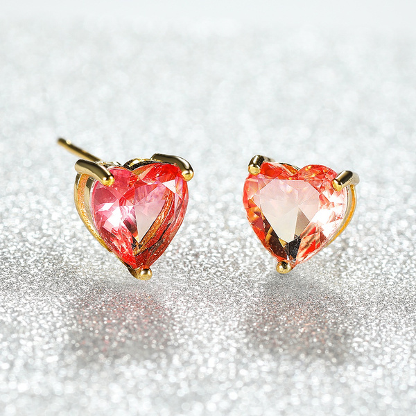 Heart, proposalearring, gold, Exquisite Earrings