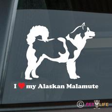 Car Sticker, Love, Home Decor, malamute