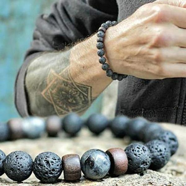 volcanicrock, Jewelry, flashstone, stoneandwood