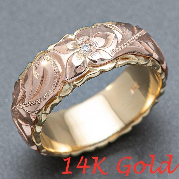 Flowers, Jewelry, gold, Bride