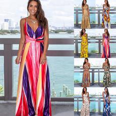 sleeveless, slingdresse, Fashion, Print Dresses