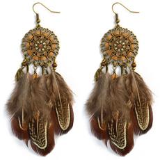 hookearring, Earring, Women's Fashion, featherearring