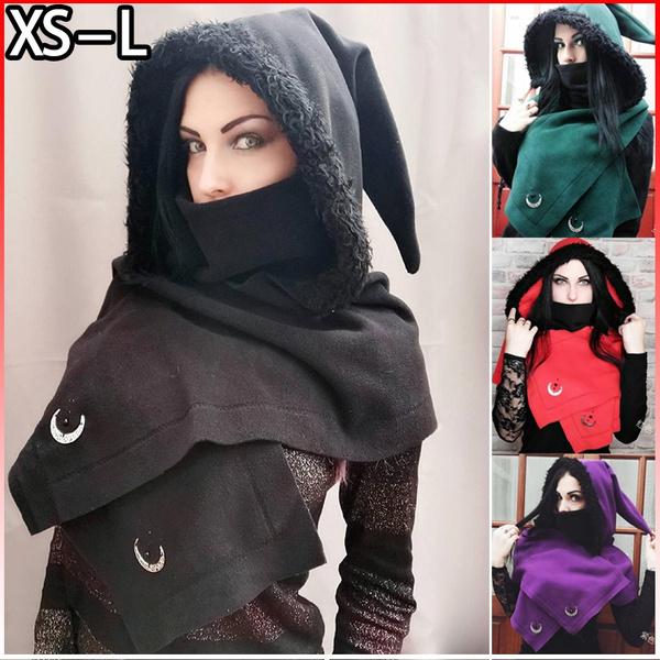 Vintage, Goth, hooded, fur