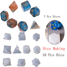 uv, Dice, Silicone, polyhedraldice