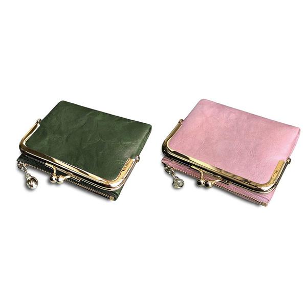 pink, kisslock, Zip, Wallet