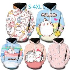 Kawaii, 3D hoodies, Fashion, cute