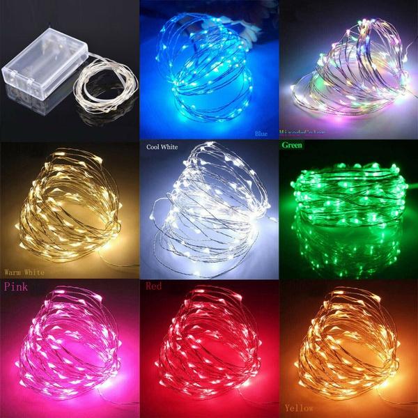 Copper, led, Christmas, Battery