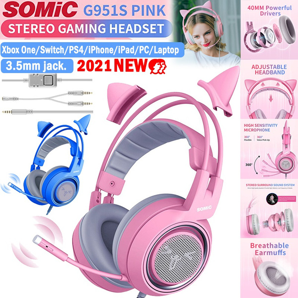 pink, Headset, lovely, Earphone
