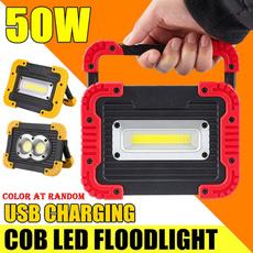 Outdoor, led, usb, rechargeablefloodlamp