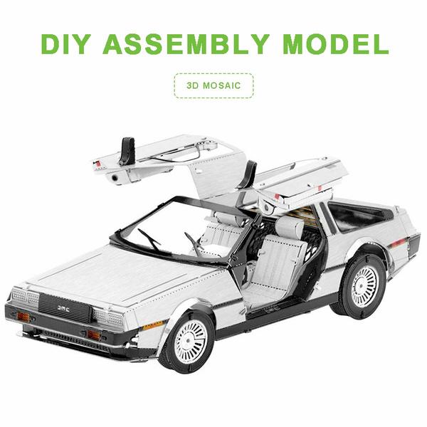 delorean, carmodel, assemblymodel, 3dmetalmodel