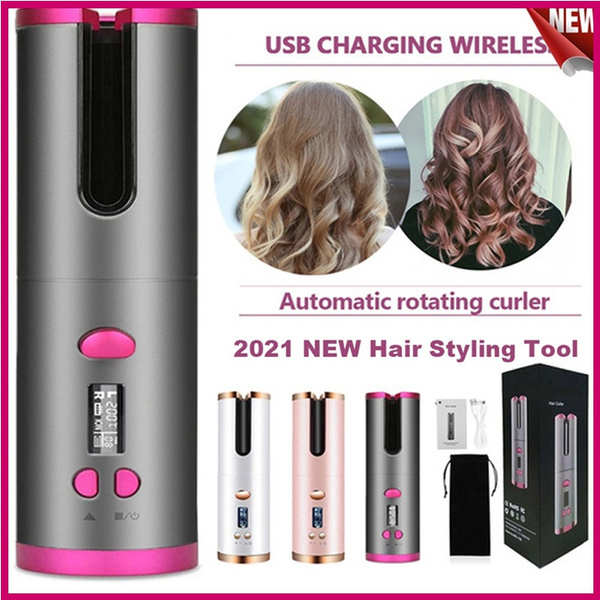 wirelesshaircurler, hairstyingtool, wirelessautomaticcurlingiron, usb