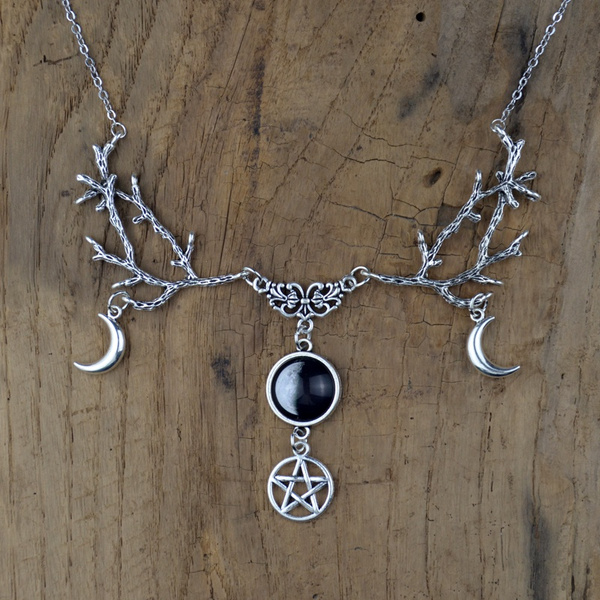Necklace, Space, Jewelry, Moon