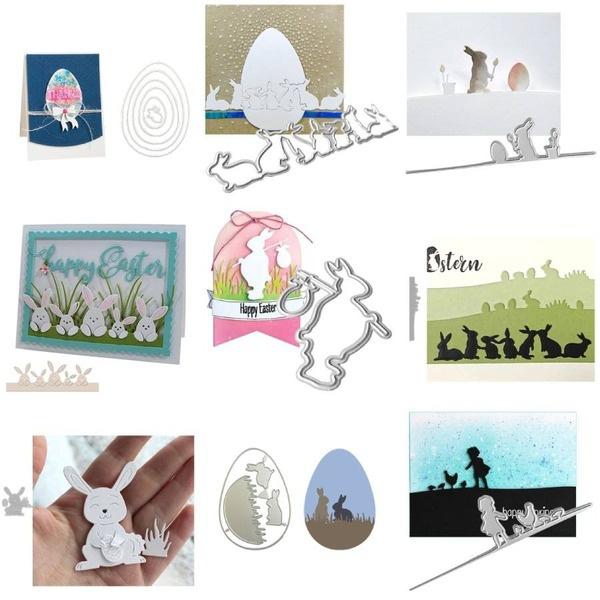 easterdecoration, bunnycuttingdie, stencil, rabbitcuttingdie