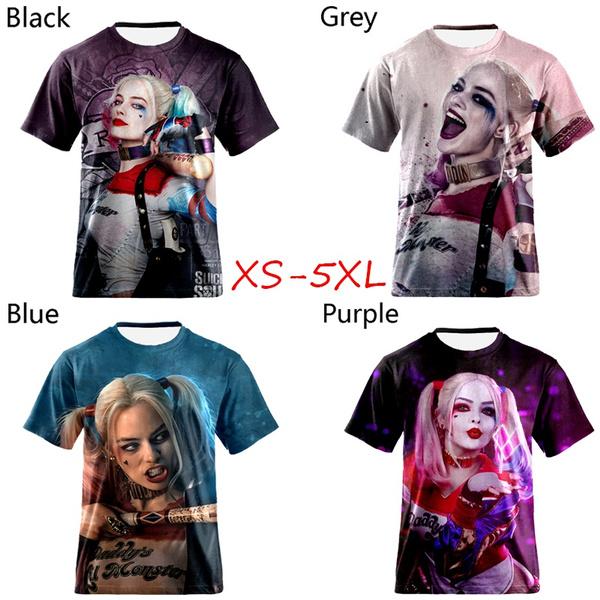 Hip-hop Style, harleyquinntshirt, Fashion, harleyquinn3dprint