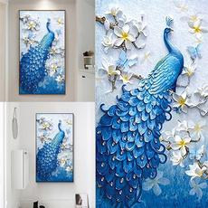 peacock, Decor, DIAMOND, art