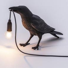 led, Home Decor, crow, Desk