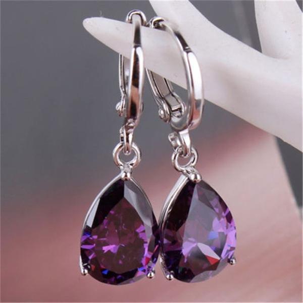 Sterling, Dangle Earring, Jewelry, tear