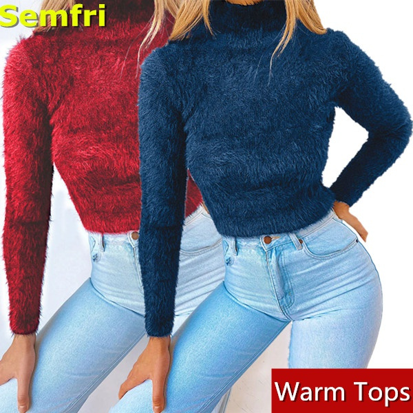 Slim Fit, crop top, pullover sweater, Long Sleeve