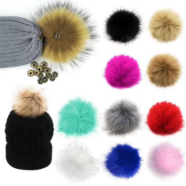 foxfurpompombeaniehat, Scarves, fluffypompomball, Key Chain