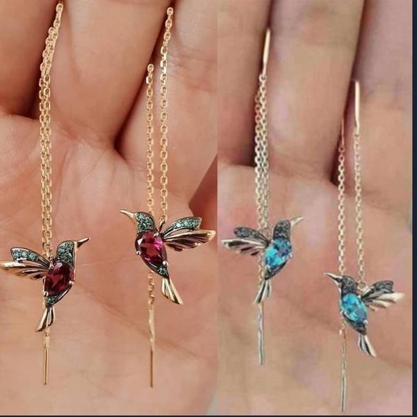 longtasselearring, Crystal, Dangle Earring, Jewelry