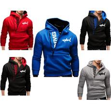 printedtop, zippersweater, Men, hooded