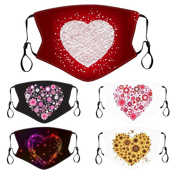 valentinedaygift, heartprintmask, dustmask, mouthmuffle