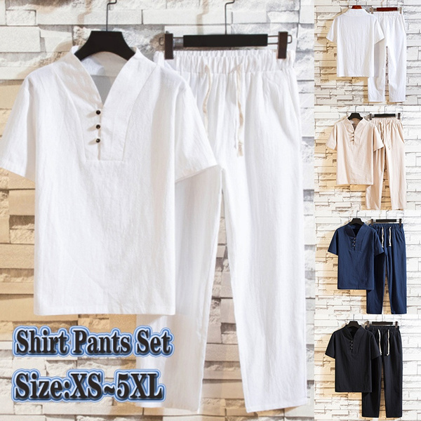 Summer, Set, Shirt, Chinese