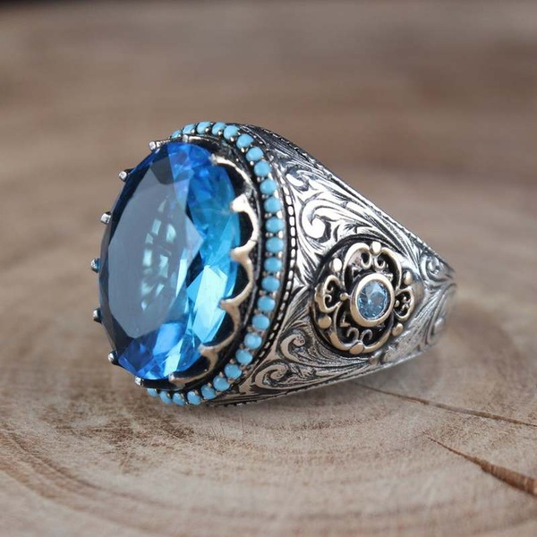 Sterling, Vintage, Turquoise, Fashion