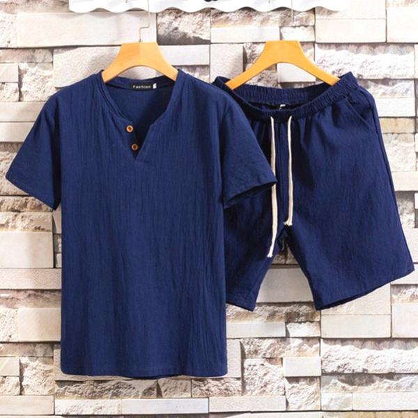 Shorts, Set, Shirt, menswear