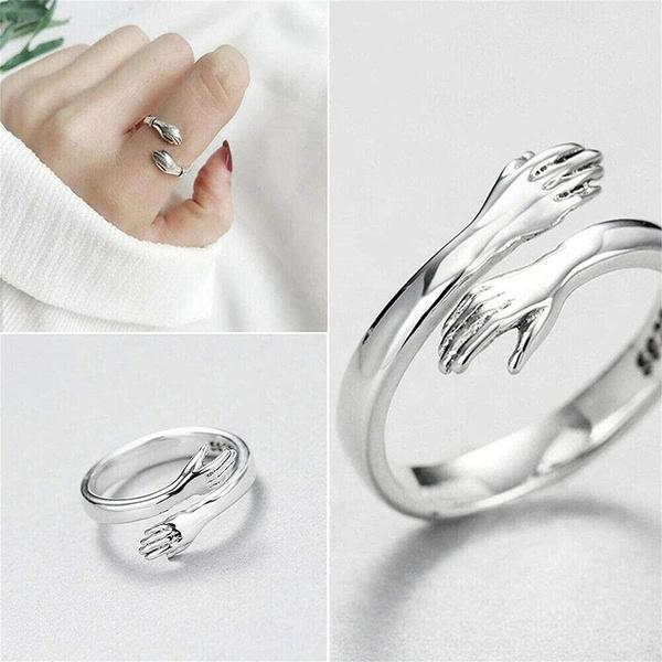Sterling, adjustablering, Love, Jewelry