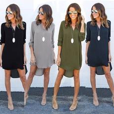 Plus Size, Long Sleeve Dresses, Necks, Sleeve