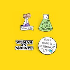 sciencebrooch, Jewelry, Pins, Flasks