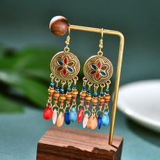 Colorful, acrylicearring, Earring, Women's Fashion