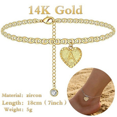 charmanklet, gold, Chain, cute