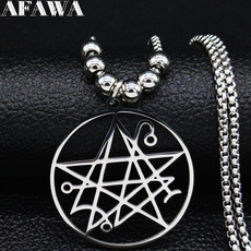 Steel, Stainless, Men, necronomiconnecklace