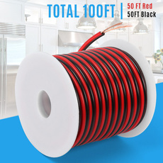 Copper, electricalwire, led, redblackwire