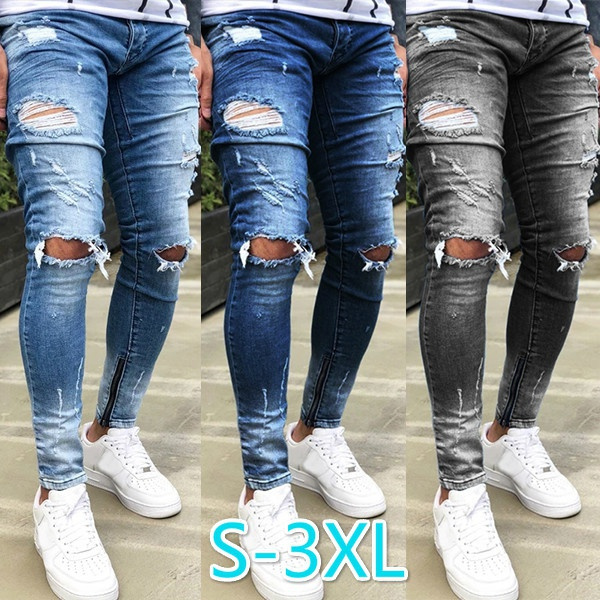men's jeans, Fashion, Casual pants, pencil
