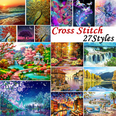 crossstitch, Decor, crossstitchset, Cotton
