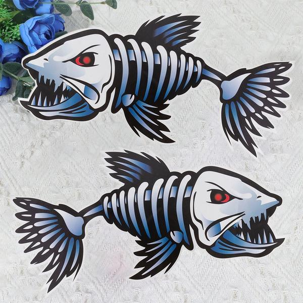 Shark, Skeleton, selfadhesivecarsticker, selfadhesivestickerforcar